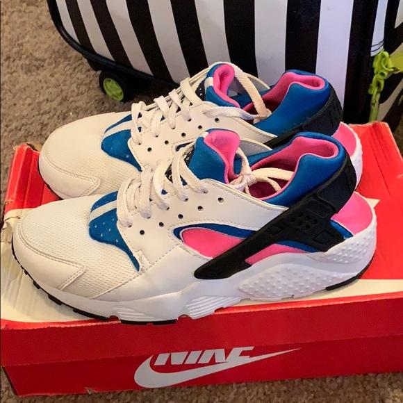 Nike Shoes | Huarache Pink Blue And